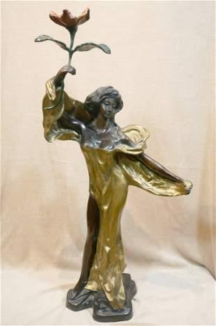 Bronze Lady Figurine
