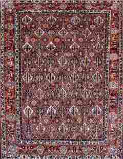 Vintage Bakhtiari Persian Rug