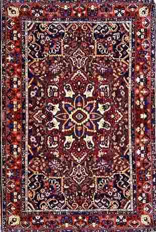 Vintage Bakhtiari Tribal Persian Rug