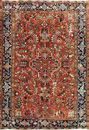 Antique Heriz Persian Rug, Circa 1910