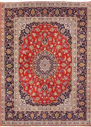 Vintage Kashan Persian Rug