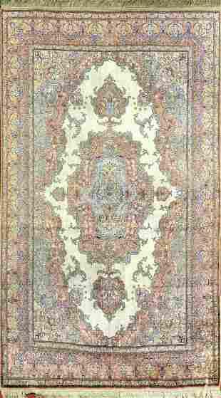 Vintage Keisari Turkish Silk Rug