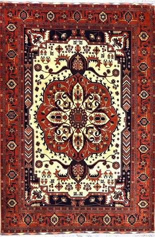 Vintage Turkmen Tribal Afghan Rug