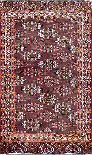 Antique Turkman Yammot Afghan Rug