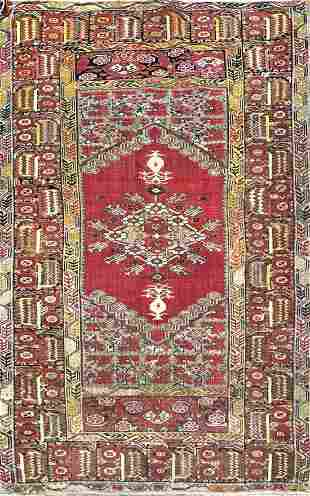 Vintage Oushak Turkish Rug
