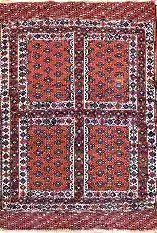 Semi Antique Afghan Rug