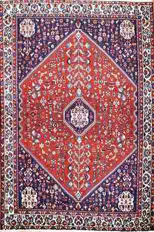 Vintage Abadeh Persian Rug