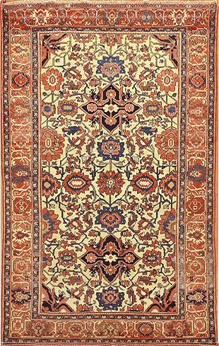 Antique Malayer Persian Rug, Circa 1900