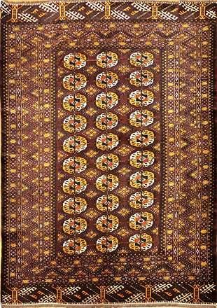 Vintage Turkman Tribal Afghan Rug