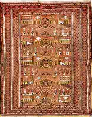 Vintage Balouch Tribal Rug