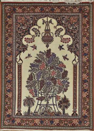 Vintage Qum Persian Rug