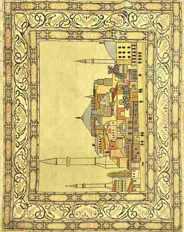 Vintage Pictorial Persian Rug
