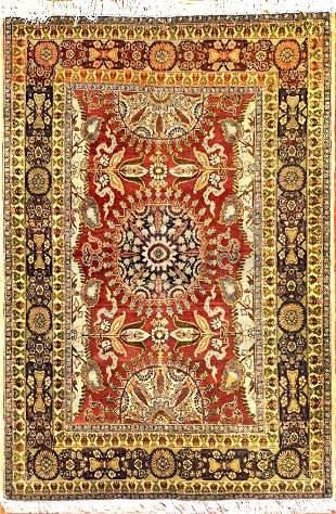 Antique Tabriz Hajijalili Persian Rug