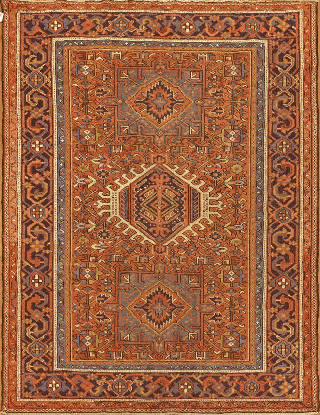 Semi Antique Karajeh Persian Rug
