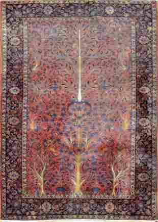 Antique Kashan Persian Rug, Circa 1900