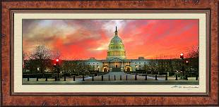 Spectacular Sunset Photo of The U.S. Capitol