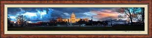 The U.S Capitol Sunset From East Side Panoramic on
