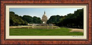Watercolor Effect Photo Print of U.S. Capitol East Side