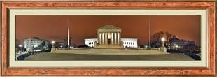 Panoramic Photo Night shot of The United States Supreme