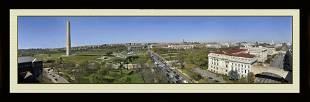 Rare Panoramic View of Washington D.C. In Color