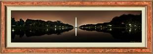 Panoramic View of the Washington Monument at Night