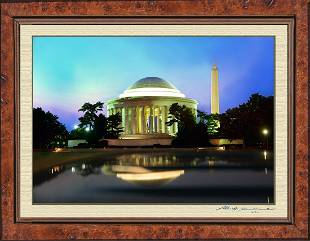 The Jefferson Memorial & Washington Monument Night Shot