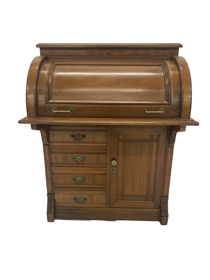 Victorian Cylinder Desk
