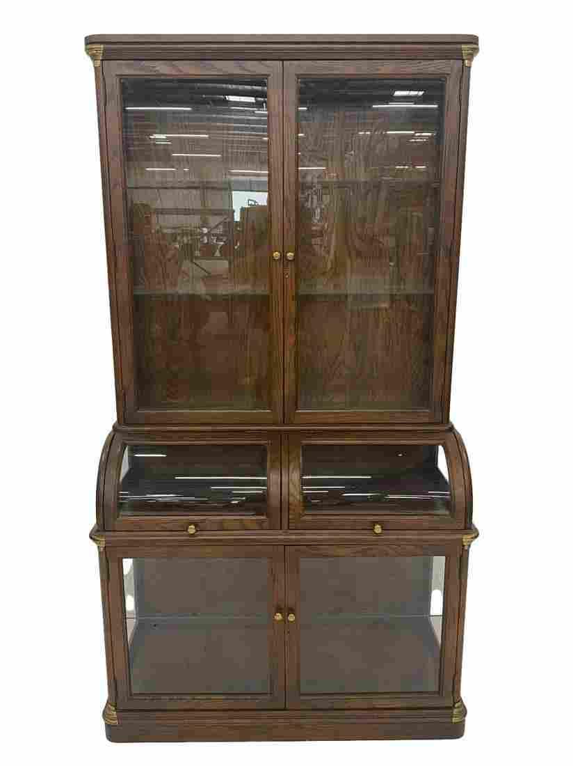 Jasper Oak Curved Front Cabinet