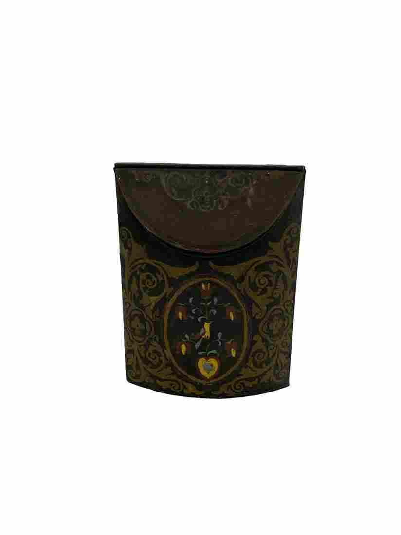 Early handpainted Tea tin