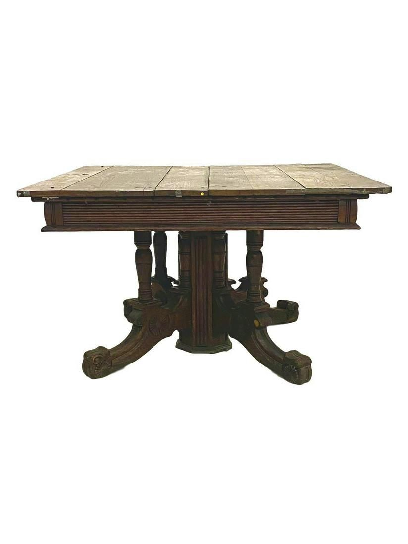 Oak Victorian Kitchen table