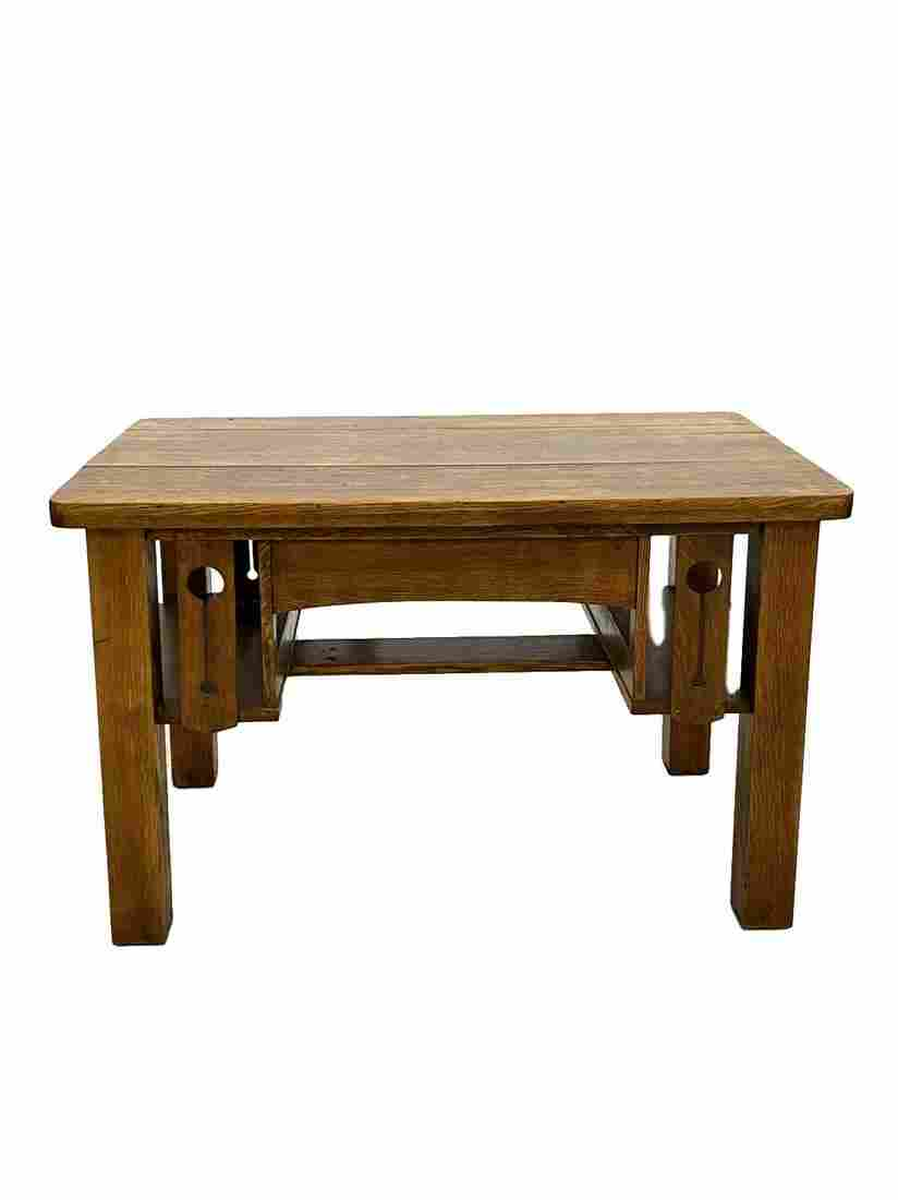Mission oak library table