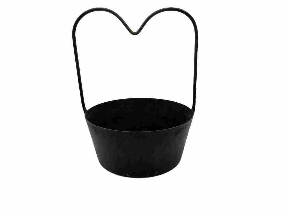 Antique cast iron campfire soup kettle