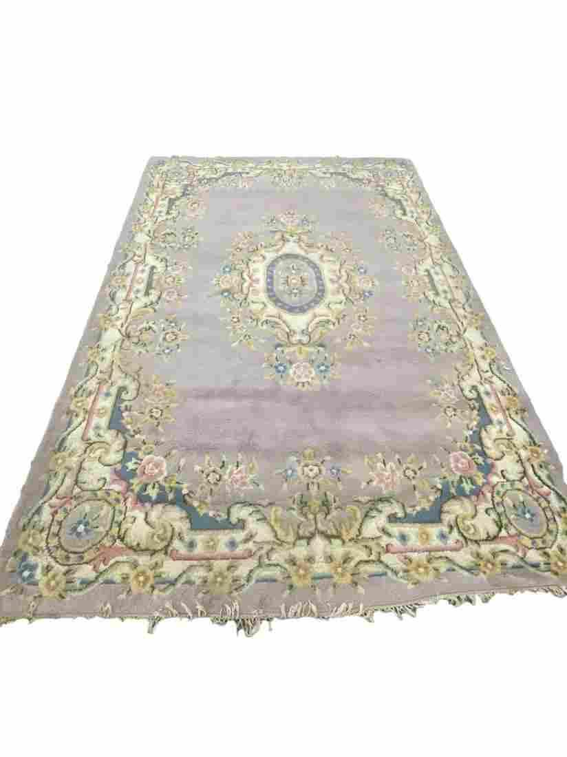 area rug purple w floral designs