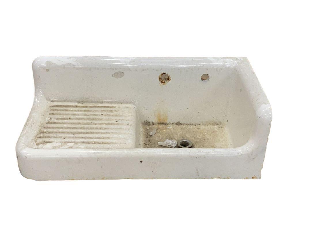 Antique porcelain trough sink