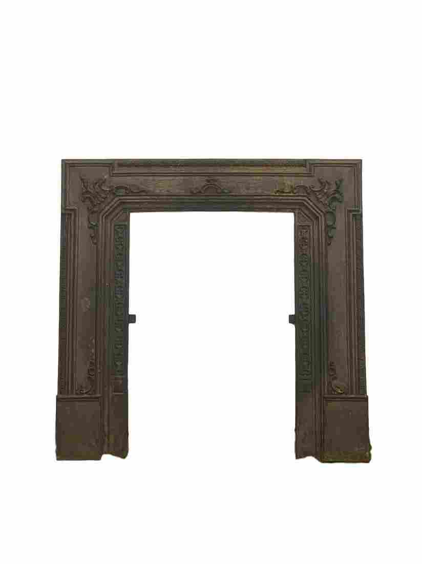 Early Iron Fireplace Mantle