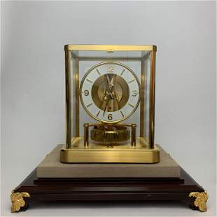 A Vintage Gold Plated Jaeger Lecoultre Atmos Table