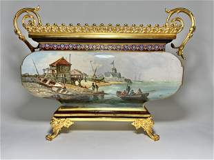 French 19th Gilt Bronze Mounted Porcelain Garniture