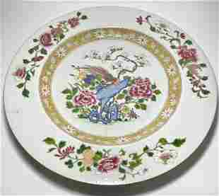 A Large Fine Chinese Famille Rose Porcelain Charger