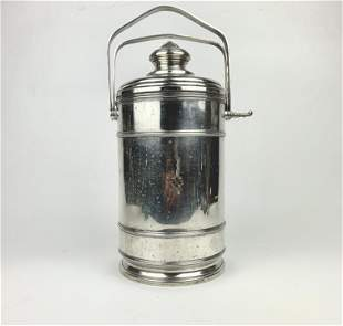 A Cartier Sterling Silver Champagne Lidded Ice Bucket