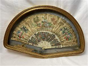 An 18th Gilt Framed Chinese French Export Painted Silk