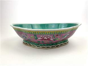 A Chinese Republic Porcelain Footed Bowl