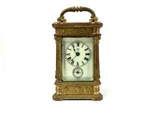 An Ansonia Clock Co. Gilt Bronze Carriage Clock