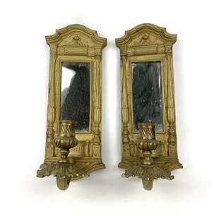 A Pair of Gilt Bronze Mirror Sconces