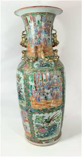 A Very Large 19th Century Chinese Rose Medallion Vase
