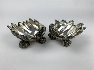 Victorian Pair of Elkington & Co. Sterling Silver Bowls