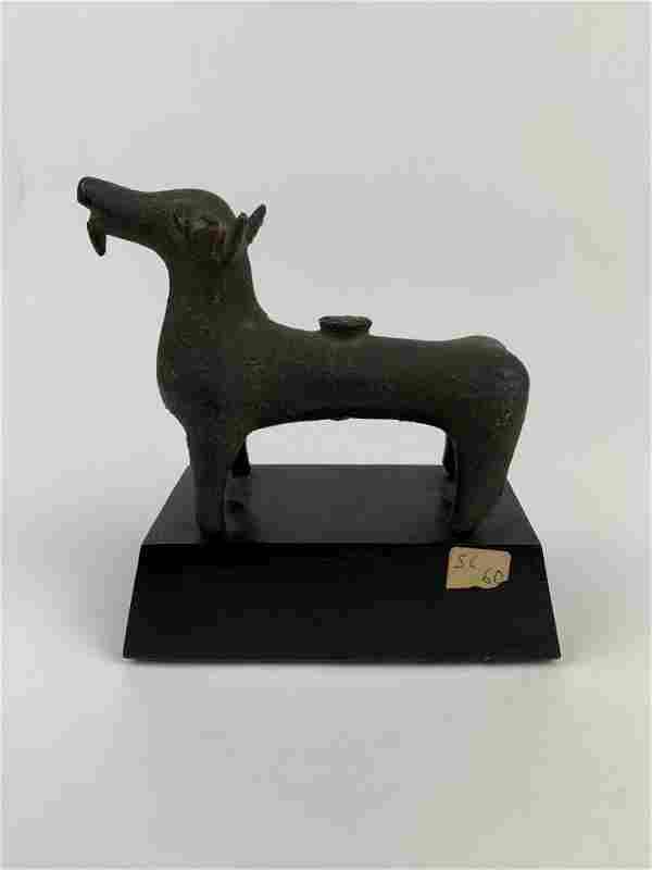 An Important Ancient Roman Bronze Figure of a Goat