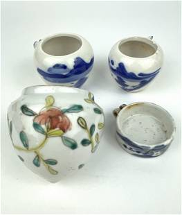 A Mixed Lot of Chinese Blue & White Porcelain Bird