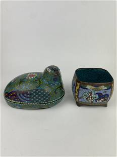 Two Chinese Cloisonne Ware