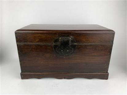 A Chinese 19th Century Huanghuali Rosewood Chest