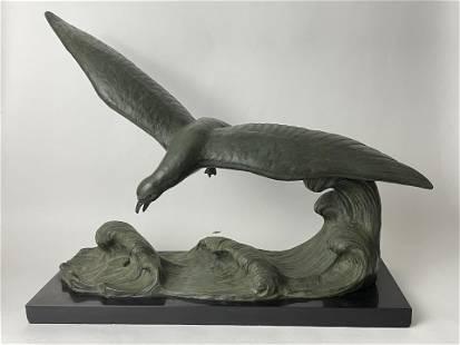 A Ouline French Bronze Albatross